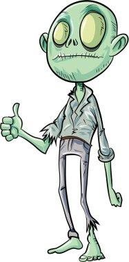 Cartoon zombie giving thumbs up