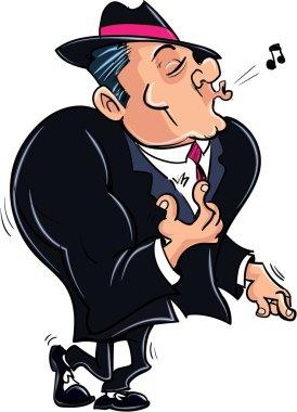 Cartoon muscled gangster