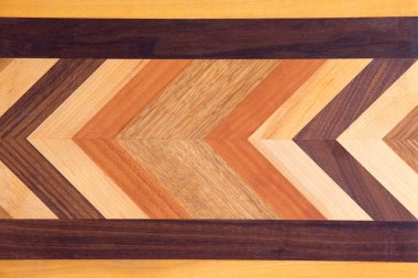 Decorative marquetry on a cutting board