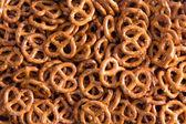 Background texture of mini pretzels