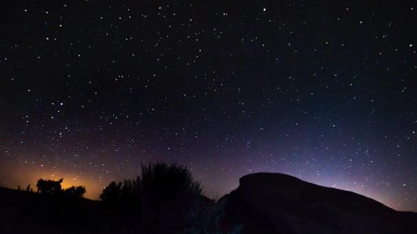 Noční obloha Hyper chyba time-lapse 4k