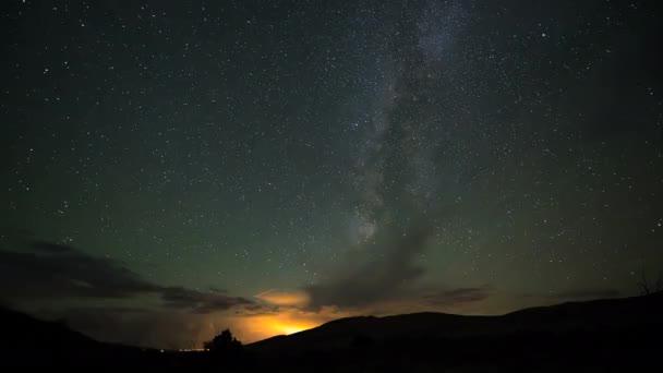 Csillag pályák Tejút gyorsított 4k