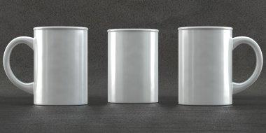 Mug mockups on concrete background