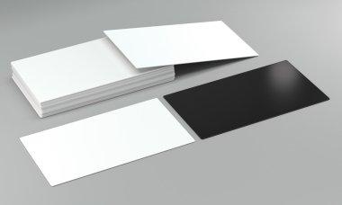 visit card mockups on bright background