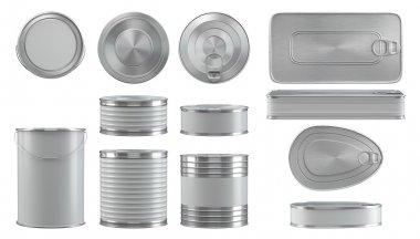 cans mockups set