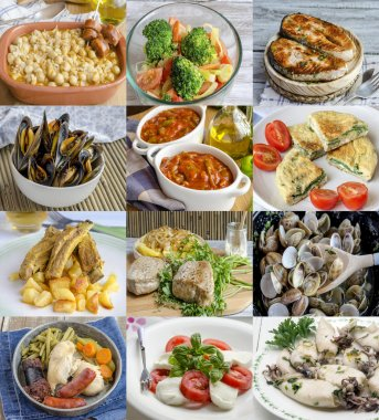 Amazing variety of different homemade dishes