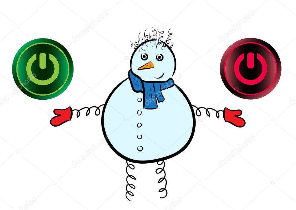 Snowman And Icons Of Inclusion Stock Vector Underworld 105201176