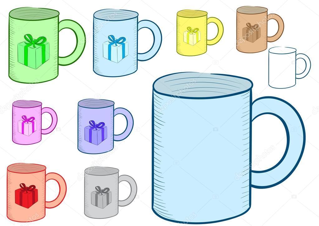 clipart christmas mug clipart of a mug with gift stock vector c underworld 90853772 https depositphotos com 90853772 stock illustration clipart of a mug with html