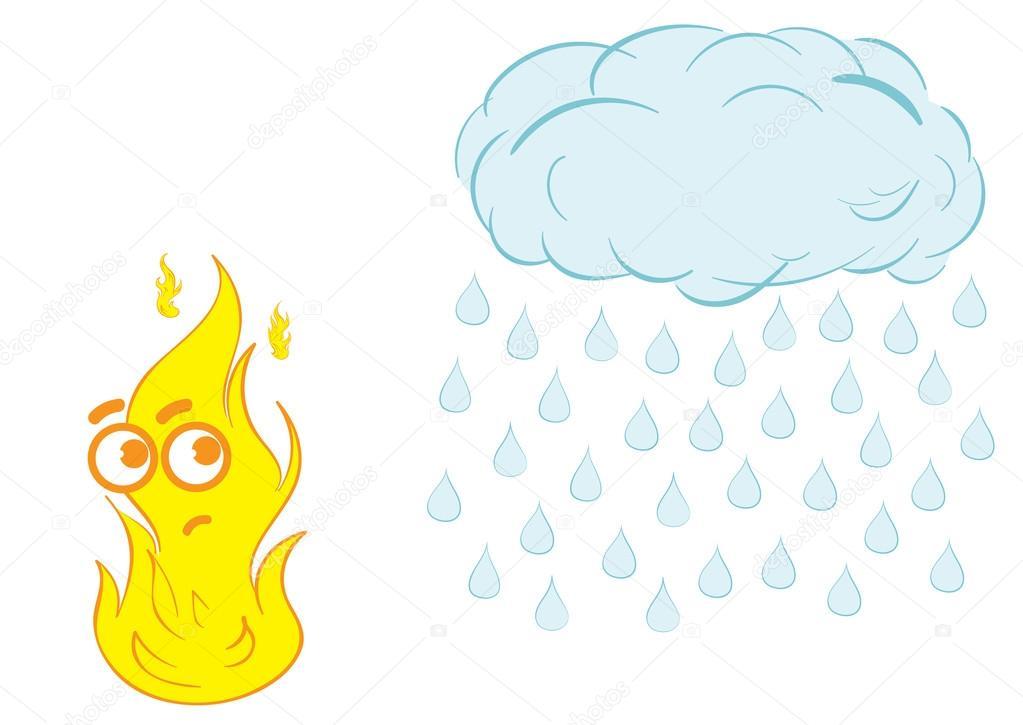 Feuer und Regen — Stockvektor © UnderWorld #91052076