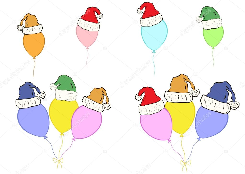 Clipart With Christmas Balloons Stock Vector C Underworld