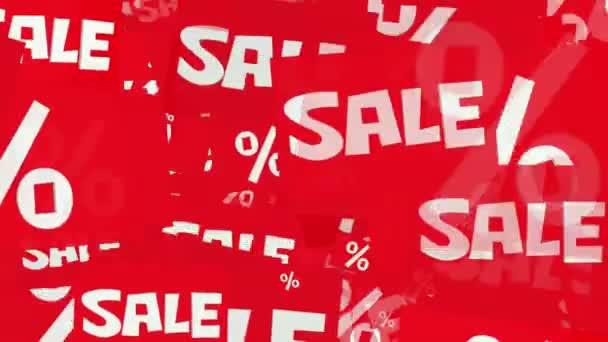 Eladó üzenetet és százalékot, a fehér-piros