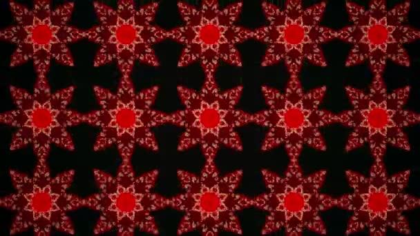 Mozaika v červené barvě