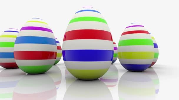 velikonoční vejce na bílém pozadí