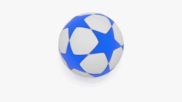 Rotující fotbalový míč na bílém