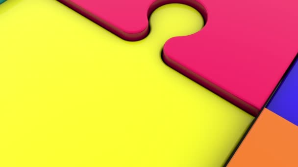 Puzzle pieces in different colors