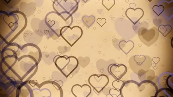 Abstract Hearts on a light brown vintage background