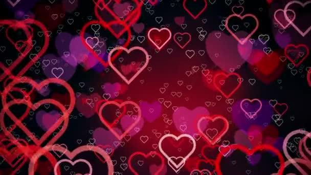 abstrakte Herzen auf dunkelrotem Hintergrund