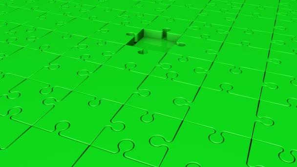 Otáčení dílků v zelené barvě
