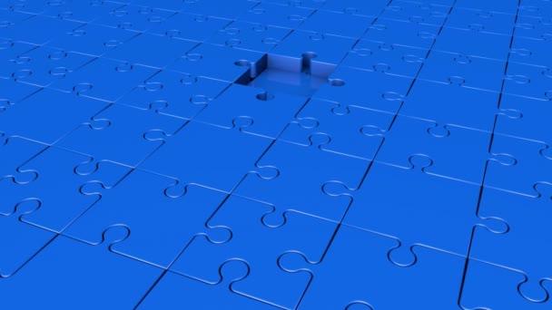 Otáčení dílků v modré barvě