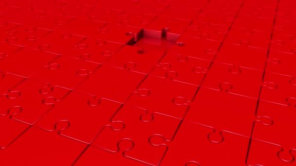 Otáčení dílků v červené barvě