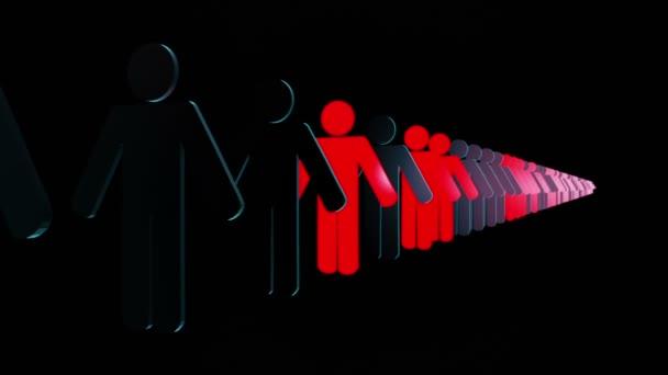 People figures in dark