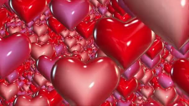 Absztrakt piros repülő szív