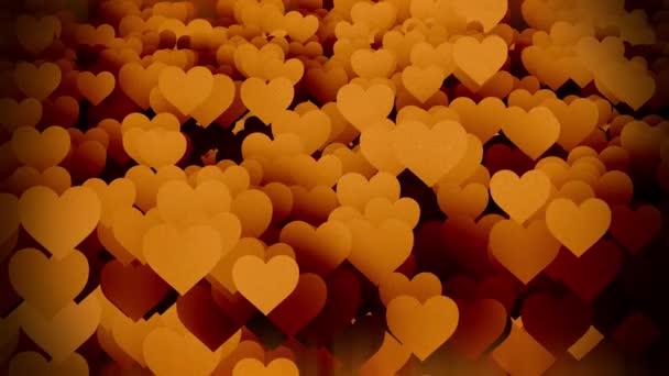 Oranžová létající srdce