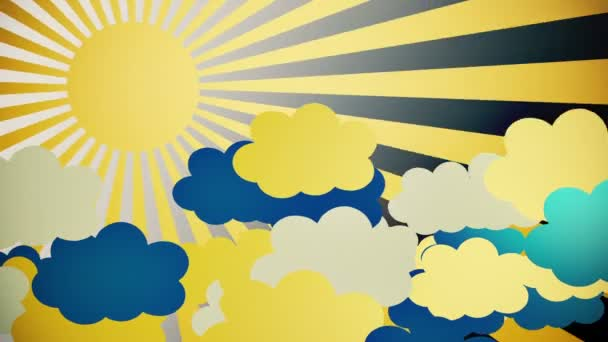 Absztrakt sunburst yellow
