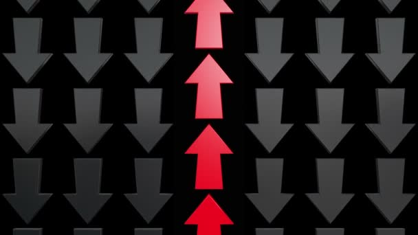 Abstract red and black arrows
