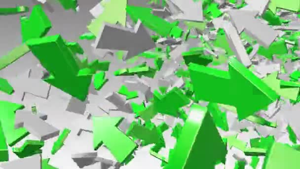 Abstract arrows in green and white
