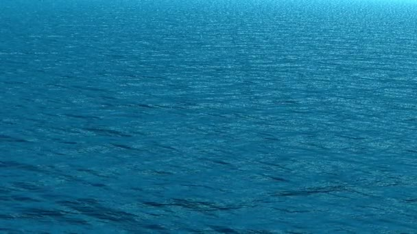 Sea water surface in blue