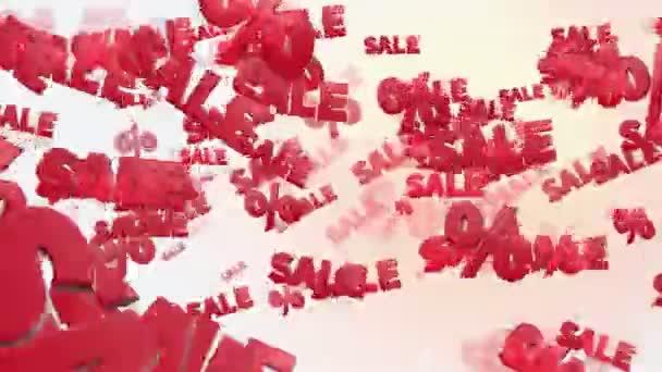 Prodej a procenta v červené barvě