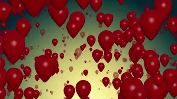 Luftballons fliegen auf Vintage Blue