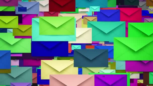 Envelopes in various colors