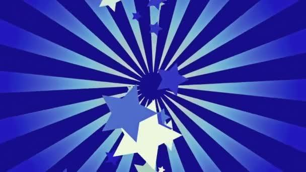Modrý sunburst s hvězdami