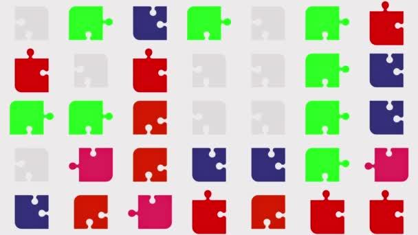 Abstraktní stěhování kusů v červené barvě