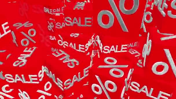 Cubes with sale and percents message in red
