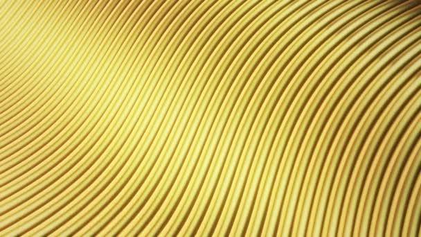 Abstraktní vlny ve zlaté barvě