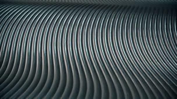 Abstraktní vlny v kovové barvě