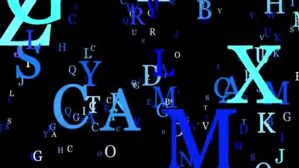 Písmena v modré na černou barvu