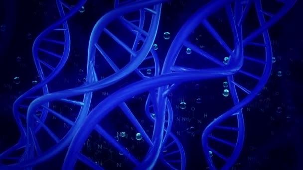 Šroubovice DNA v modrém na temné blye