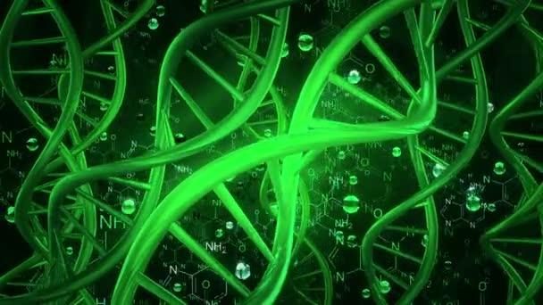 Šroubovice DNA v zelené na tmavě zelená