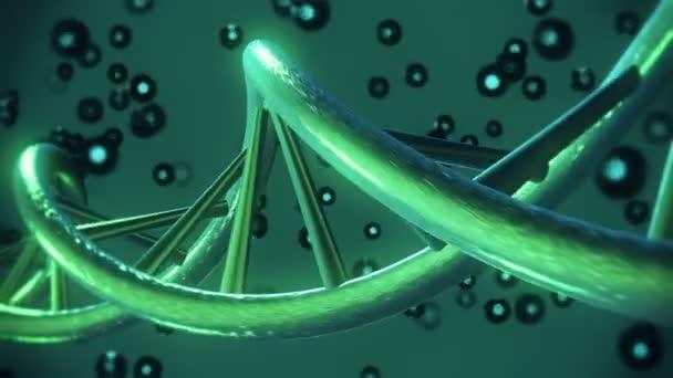 Šroubovice DNA v tmavě zelené barvě