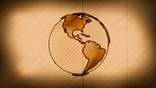 World Globe (Old Antique Sketch)