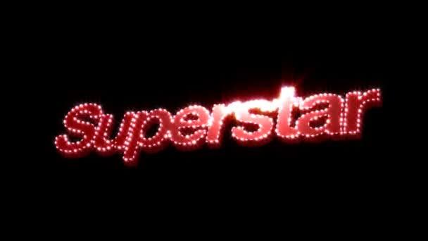 Glitzertext des Superstars