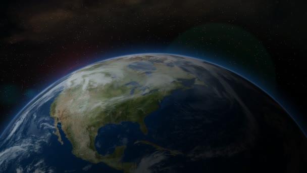 Erde aus dem All, Nordamerika - Animation