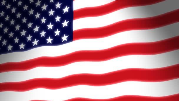 amerikai zászló integetett
