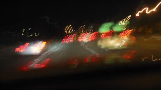 Freeway Drive Night Timelapse