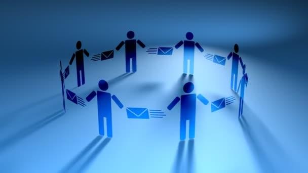 Email People Blue (HD Loop)