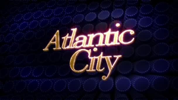 Atlantische Stadt glitzern Text
